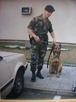 David Powers with German Shepard
